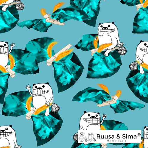 Ruusa & Sima, Simas washing day, blue