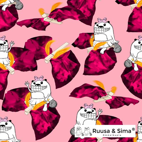 Ruusa & Sima, Ruusas washing day, red