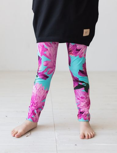 LEGGINGS, Ruusatar tropical *